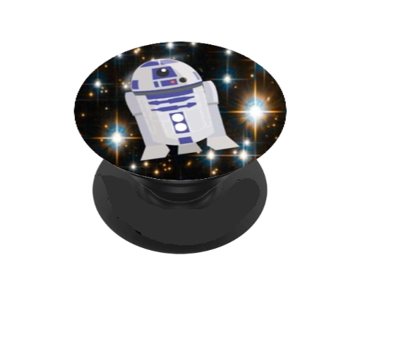 Original Space Droid Vinyl Decal For Phone Grip