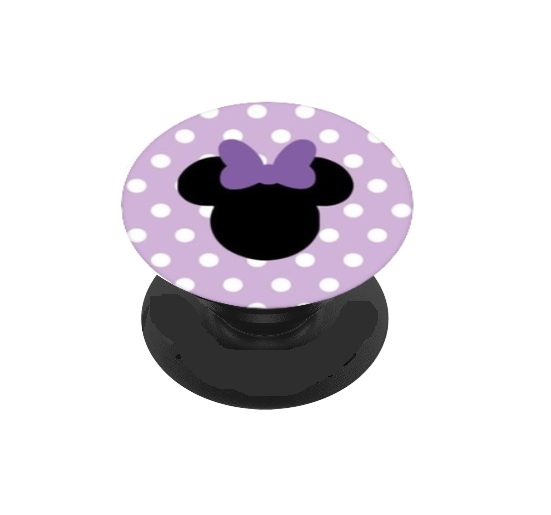 Purple Polka Dot Girl Icon Head Vinyl Decal For Phone Grip