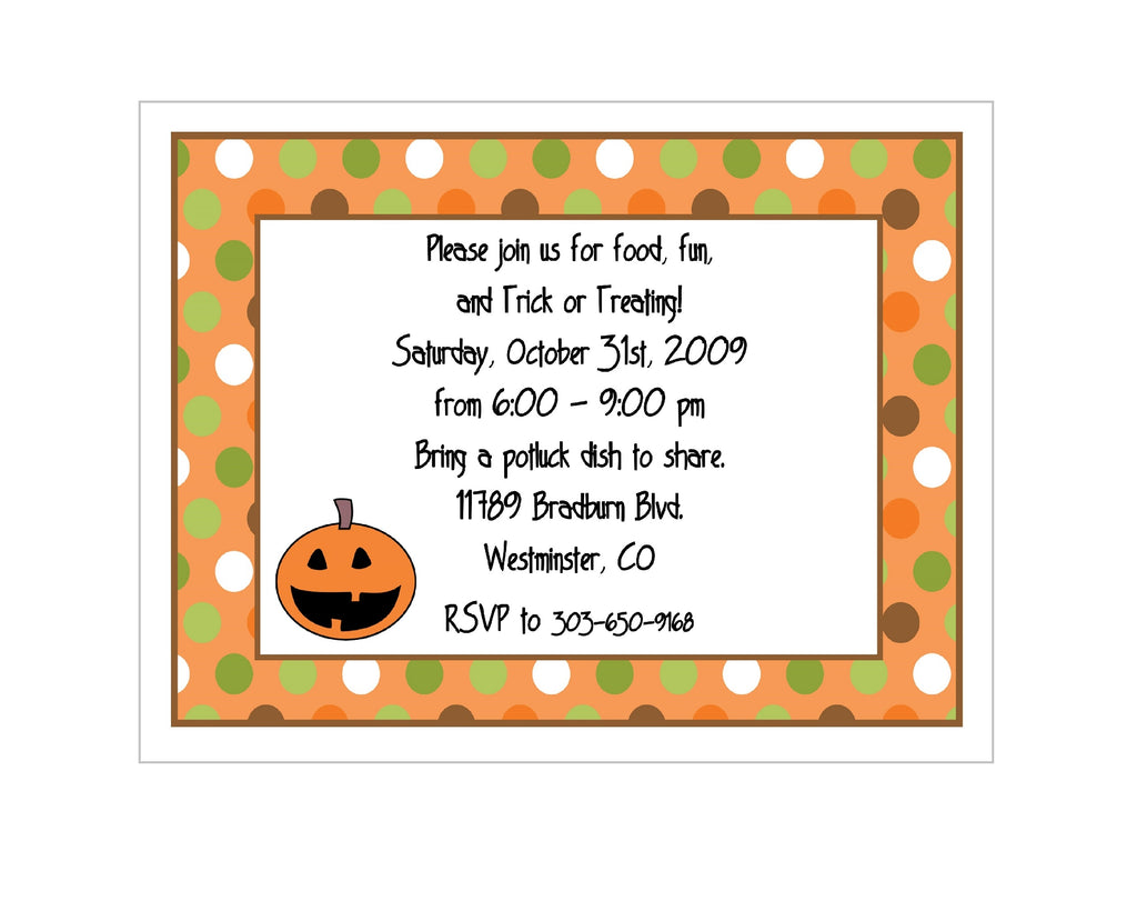Happy Pumpkin Halloween Party Invitation