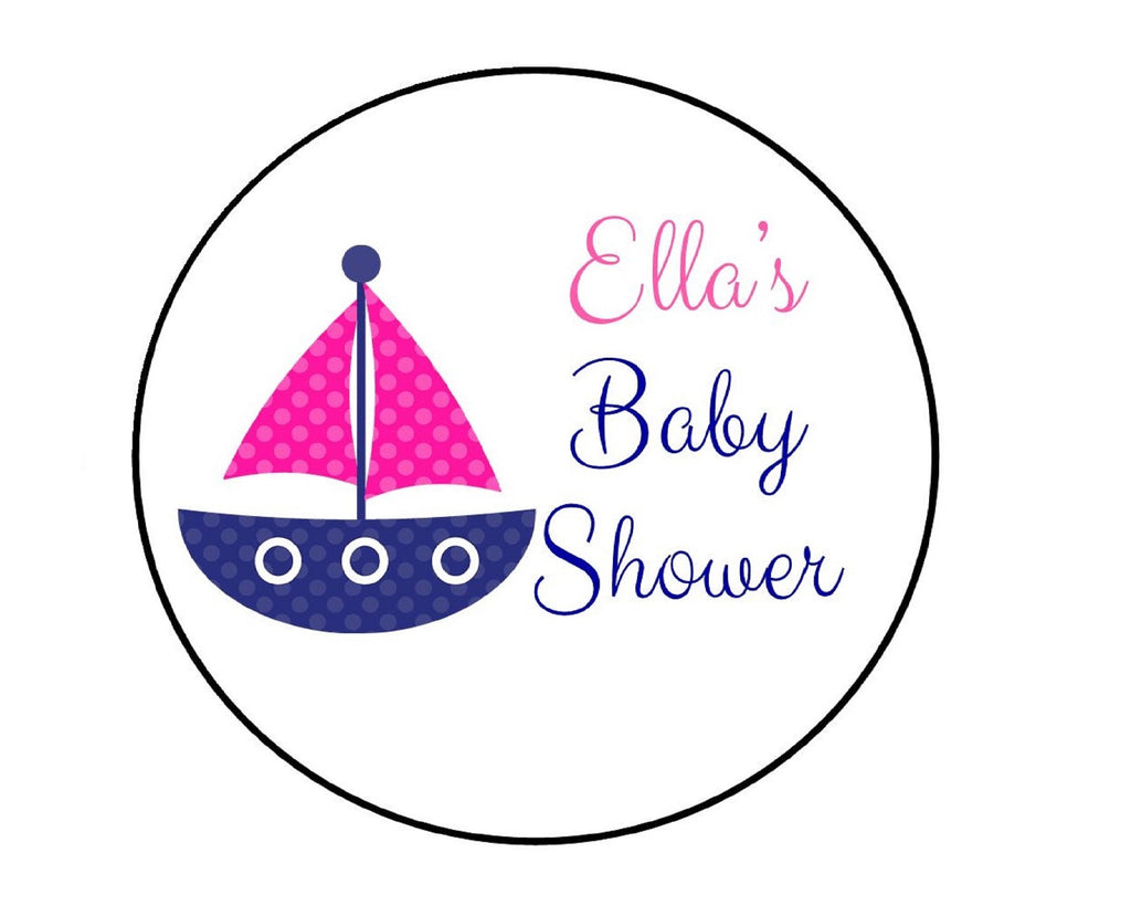Nautical Sailboat Baby Shower Labels-Stickers
