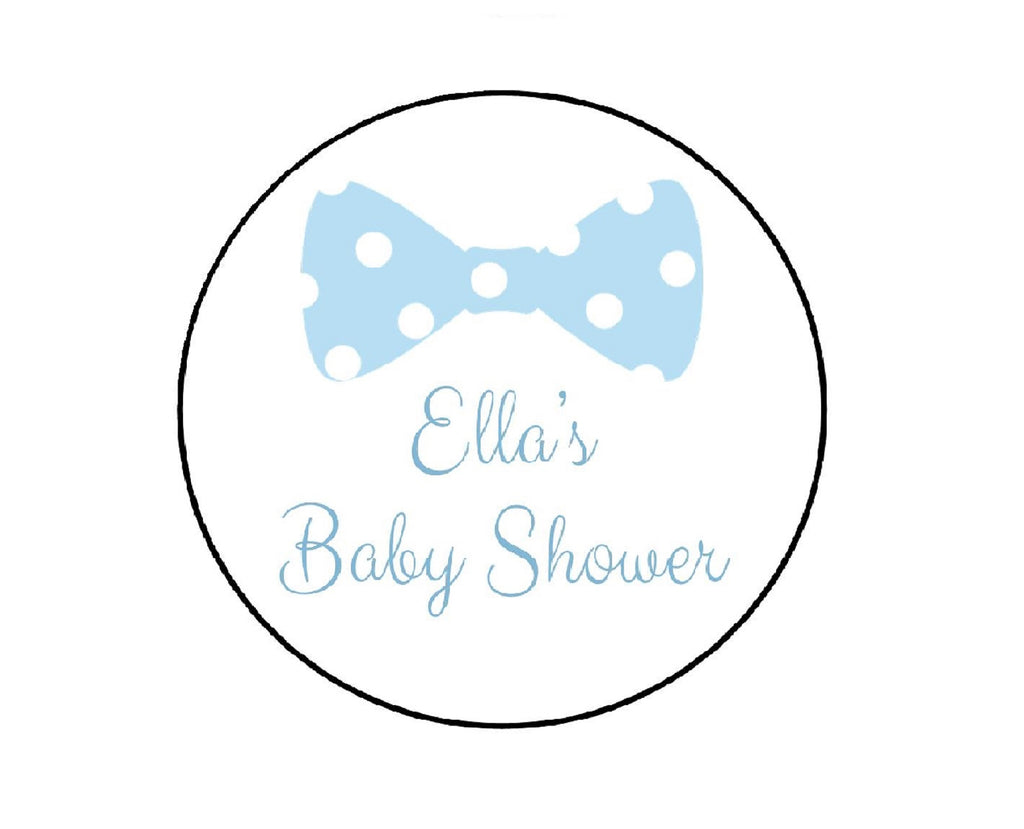Bow Tie Baby Shower Labels-Stickers