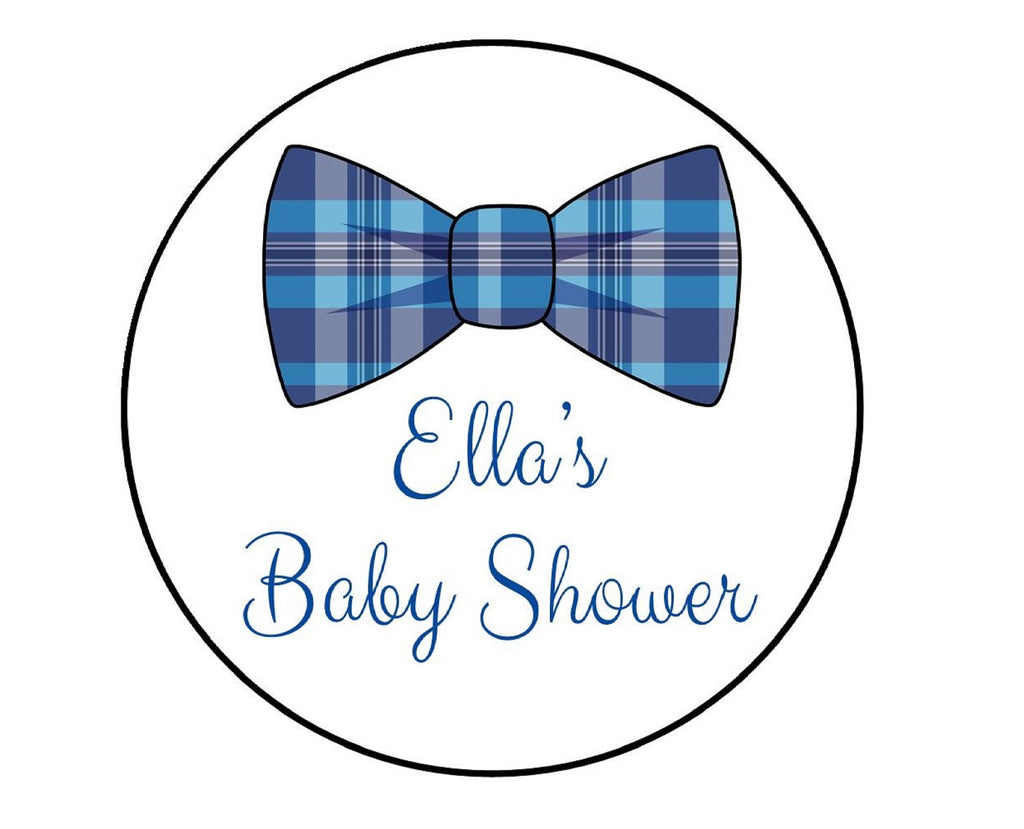 Dapper Bow Tie Baby Shower Labels-Stickers