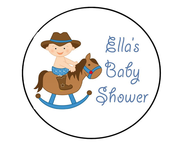 Rocking Horse Cowboy Labels-Stickers