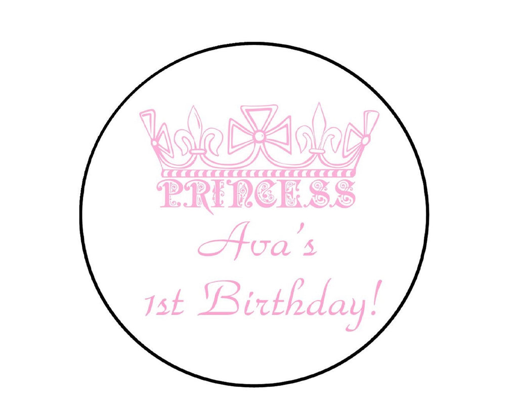 Princess Crown Labels-Stickers