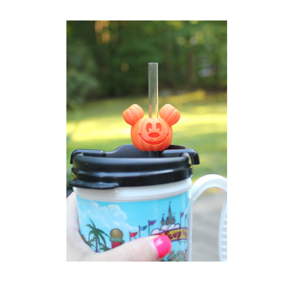 Mouse Pumpkin Straw Topper