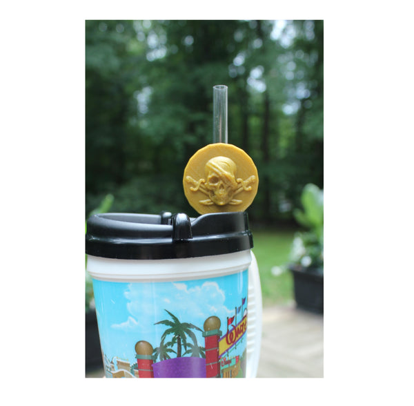 Pirate Gold Coin Straw Topper