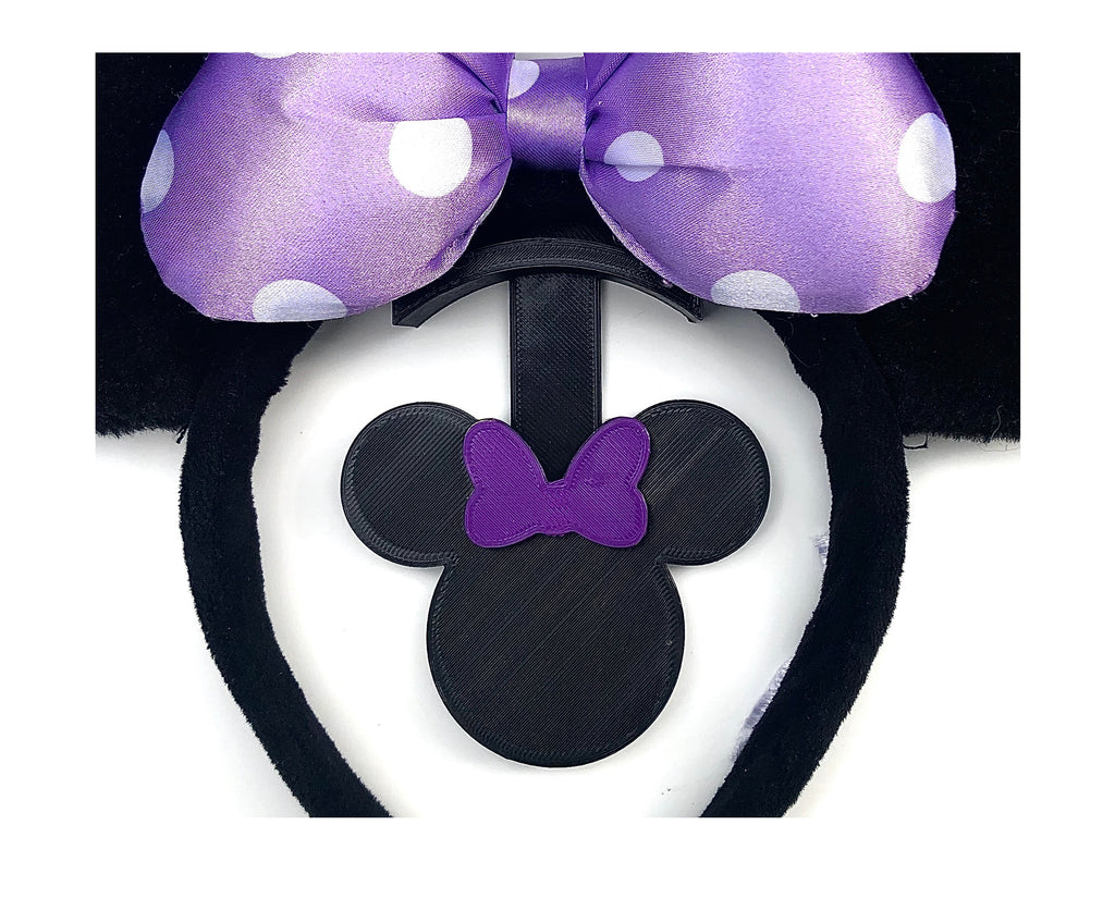 Mouse Head Purple Bow Wall Mount