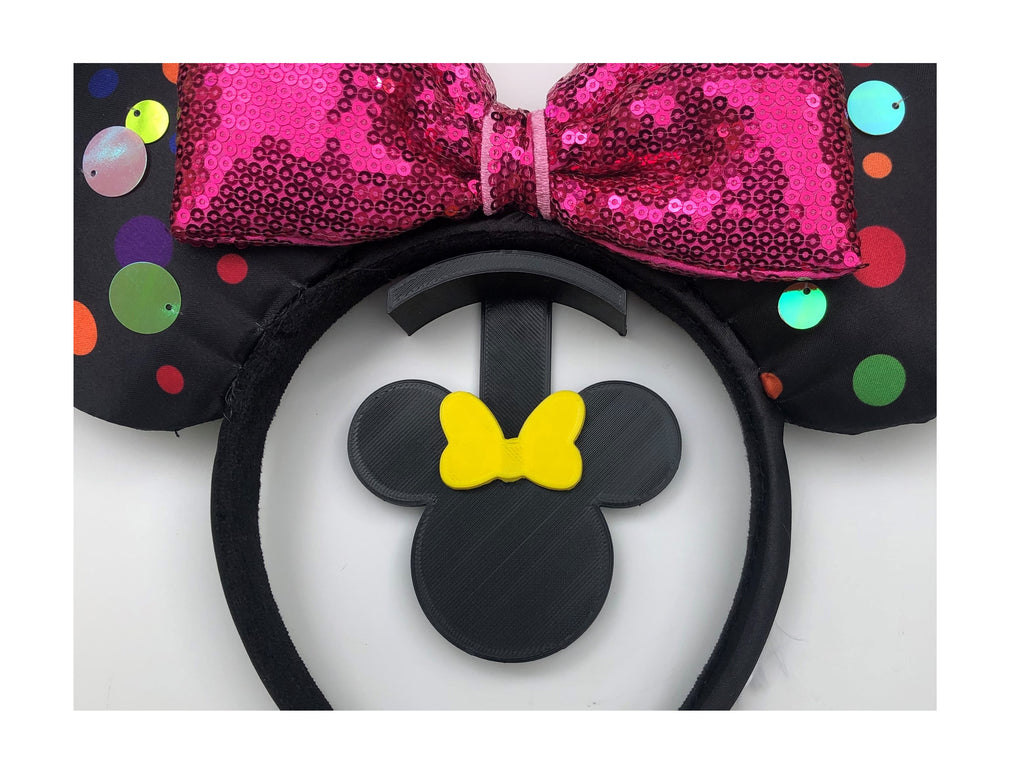 Mouse Head Yellow Bow Wall Mount