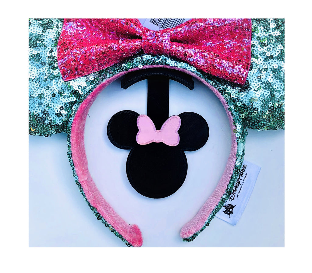 Mouse Head Pink Bow Wall Mount