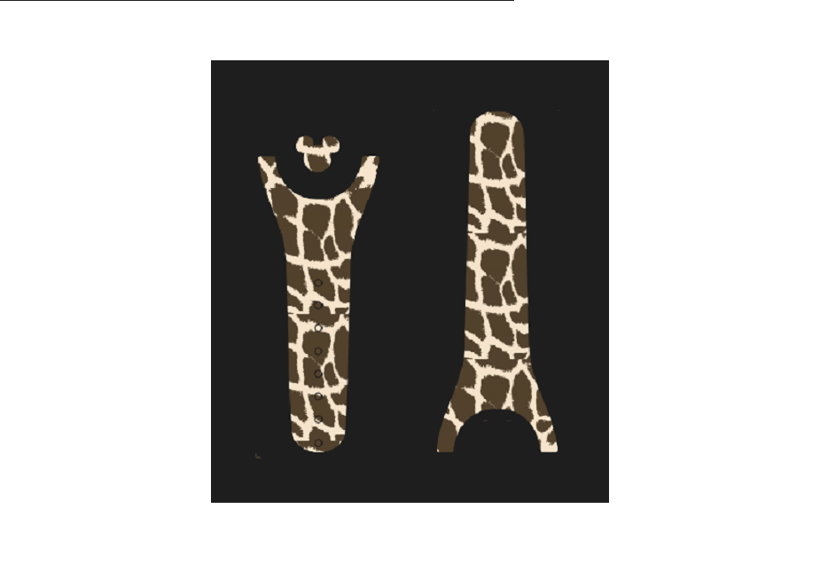 Giraffe Print Pattern Decal for Magic Band