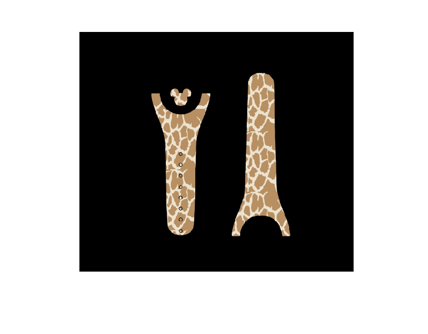Baby Giraffe Print Pattern Decal for Magic Band