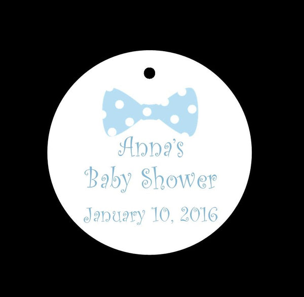 Bow Tie Shower Favor Tags