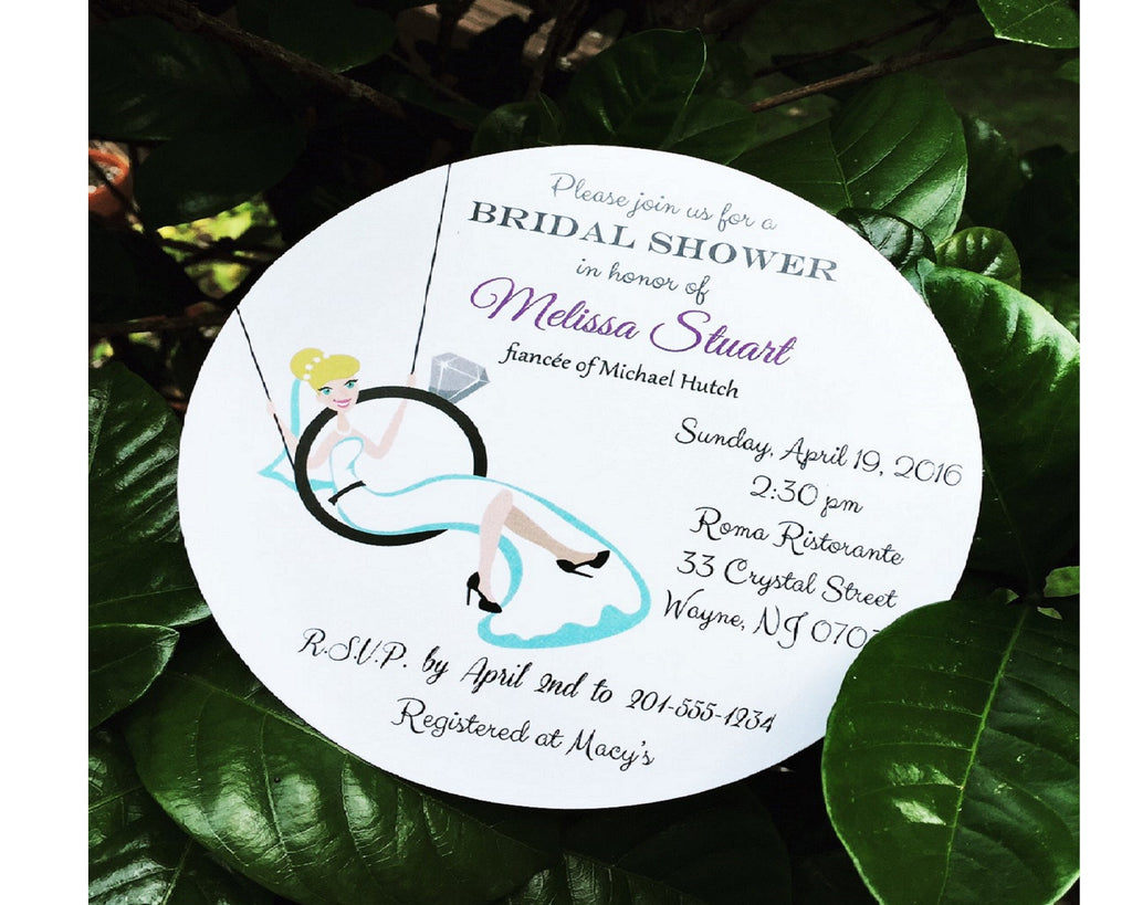 Bride Swinging Bridal Shower Invitation