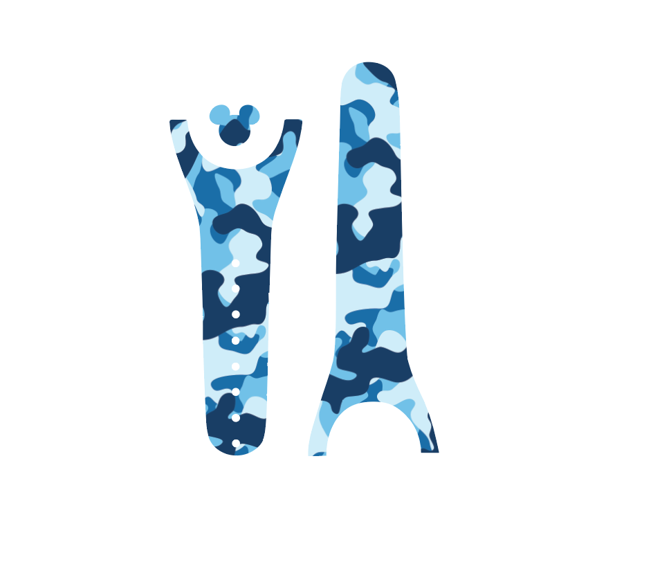 Blue Army Camouflage Magic Band Decal