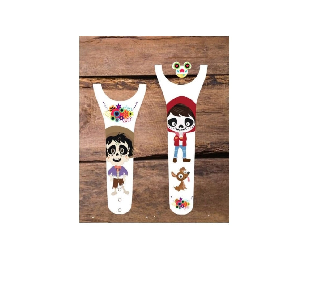 Day of the Dead Boy & Grandpa Decal for Magic Band