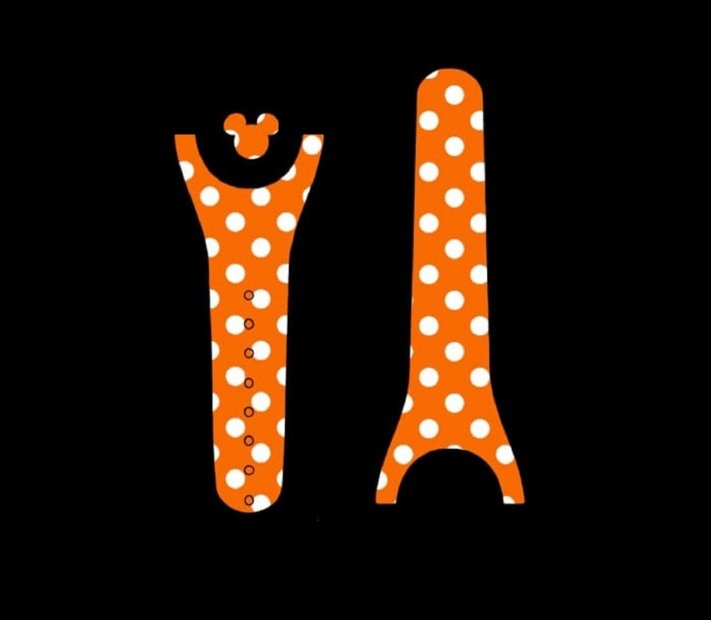 Orange Polka Dot Decal for Magic Band