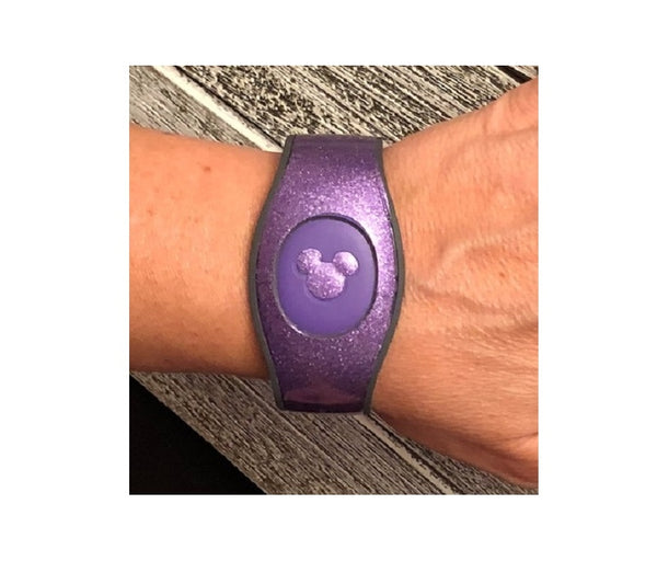 Purple Glitter Decal for Magic Band