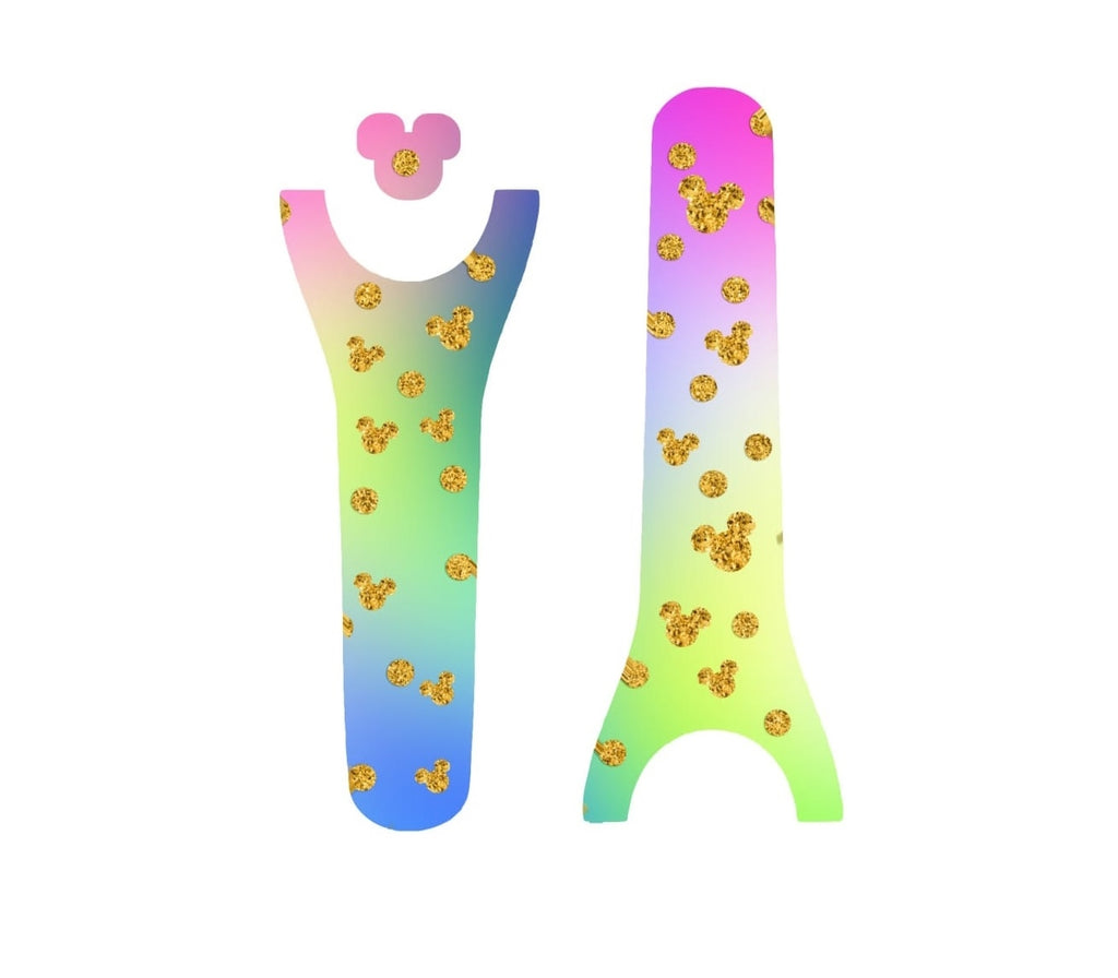 Gold Dots Blue Yellow Pink Decal for Magic Band