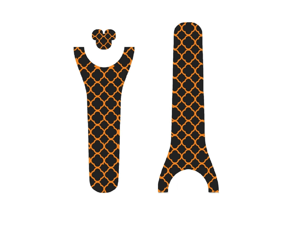 Orange Pattern Halloween Decal for Magic Band
