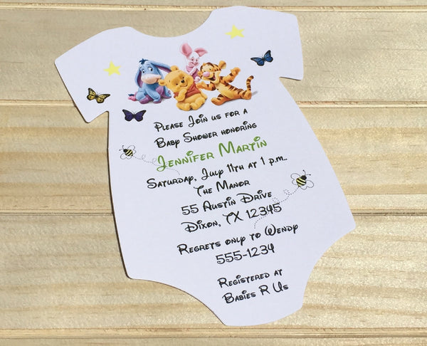Honey Bear Baby Shower Invitation