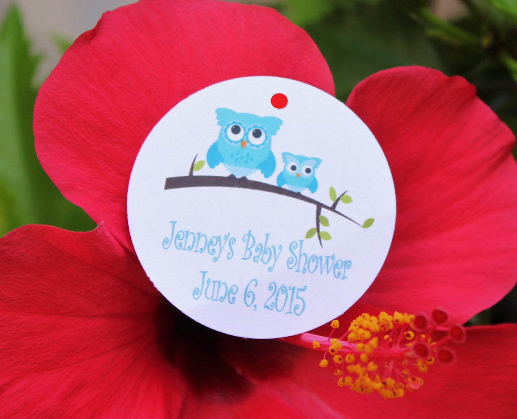 Owl Favor Tags - Pink or Blue