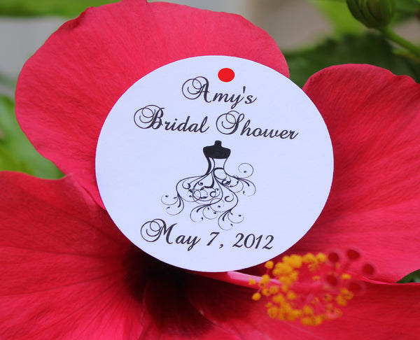 Bridal Dress Bridal Shower Favor Tags
