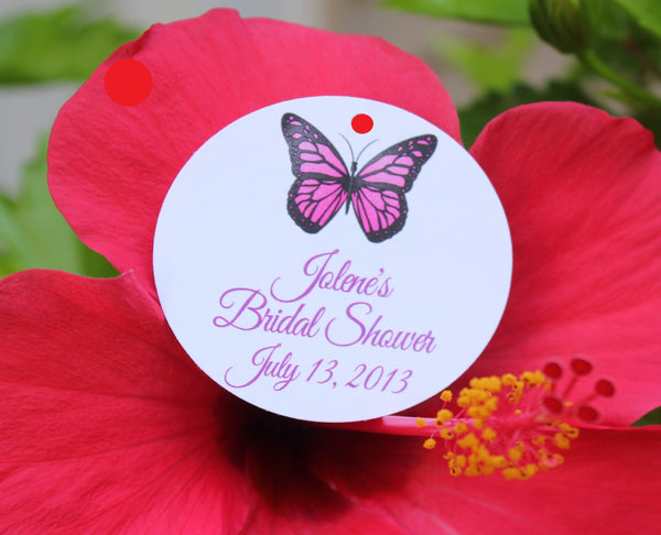 Butterfly Favor Tags - Choice of Color