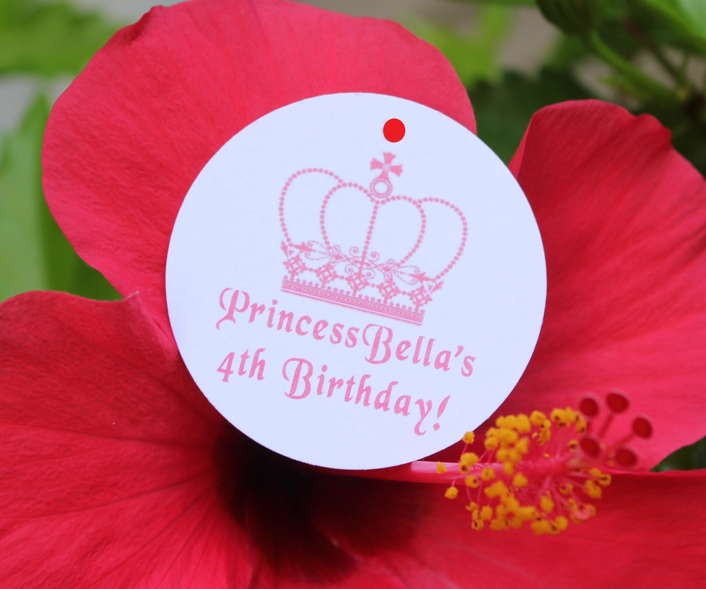 Princess Crown Favor Tags