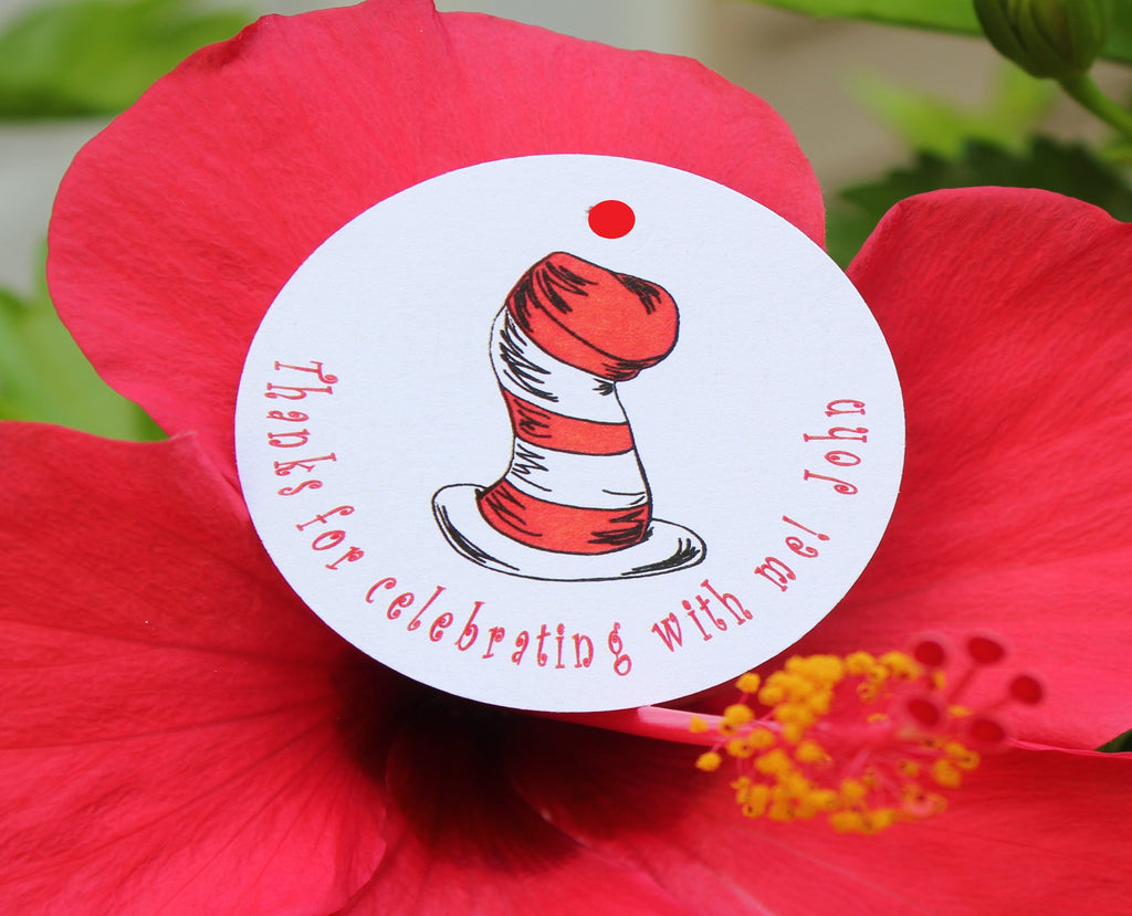 Dr. Suess Cat in the Hat Favor Tags