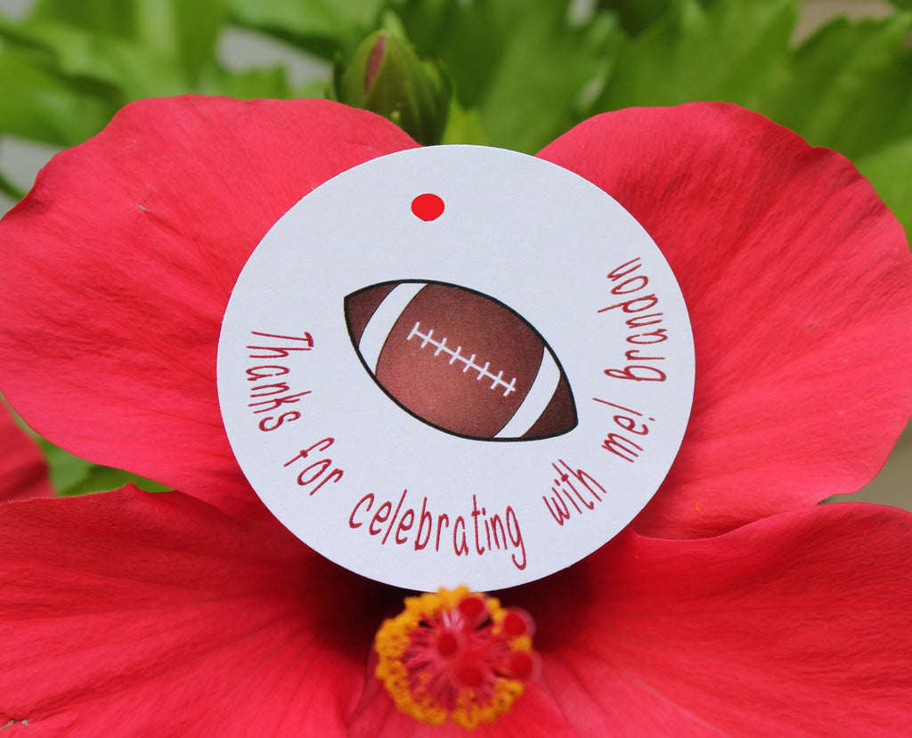 Touchdown!!! Football Favor Tags