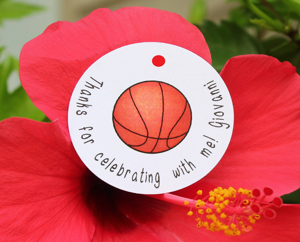 Score!!! Basketball Favor Tags