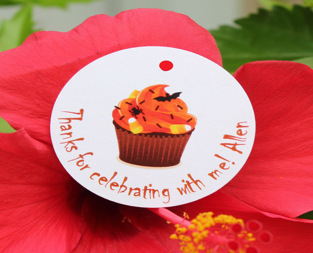Halloween Cute Cupcake Favor Tags