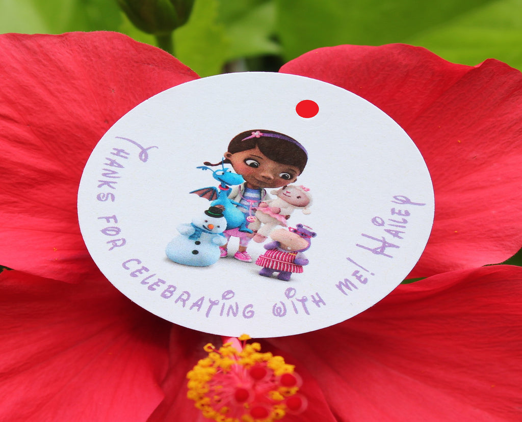 Doc McStuffins Favor Tags
