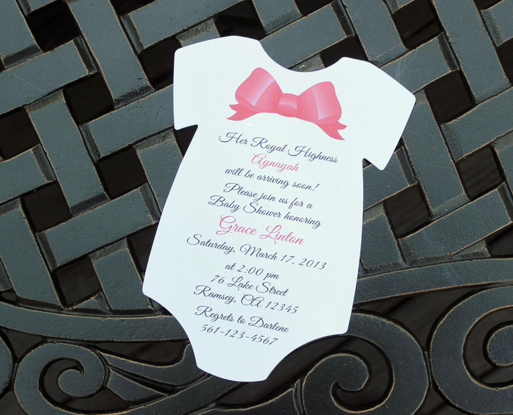 Girl Bow Baby Shower Invitation