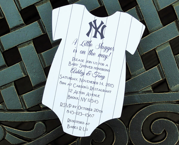Yankees Baby Shower Invitation