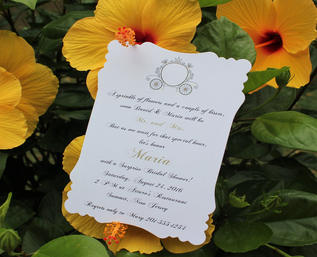 Princess Carriage Bridal Shower Invitation