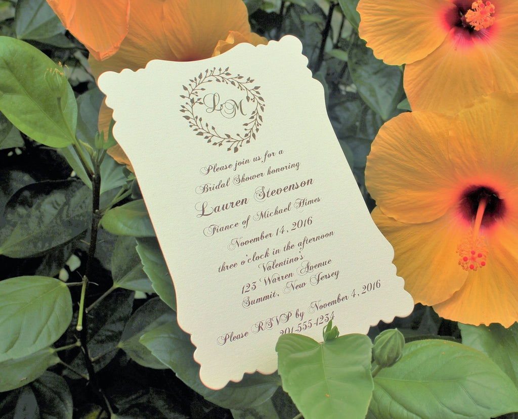 Rustic Wreath Bridal Shower Invitation