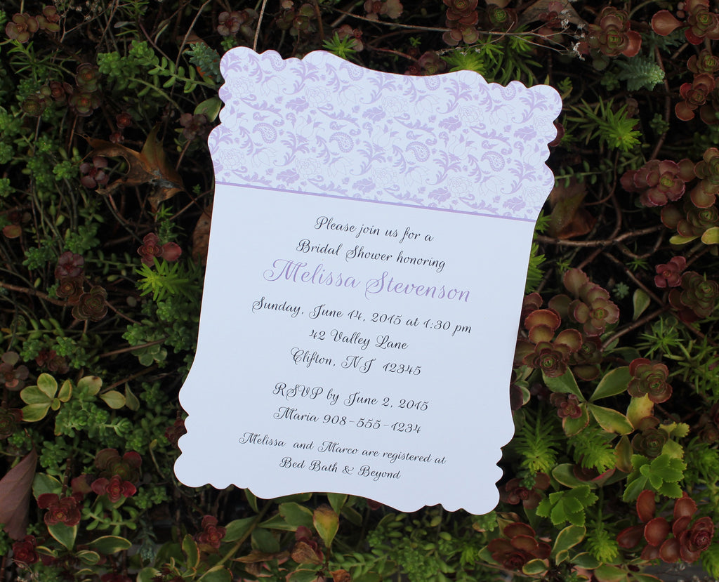 Floral Flourish Bridal Shower Invitation