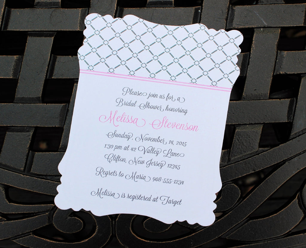 Lattice  Bridal Shower Invitation