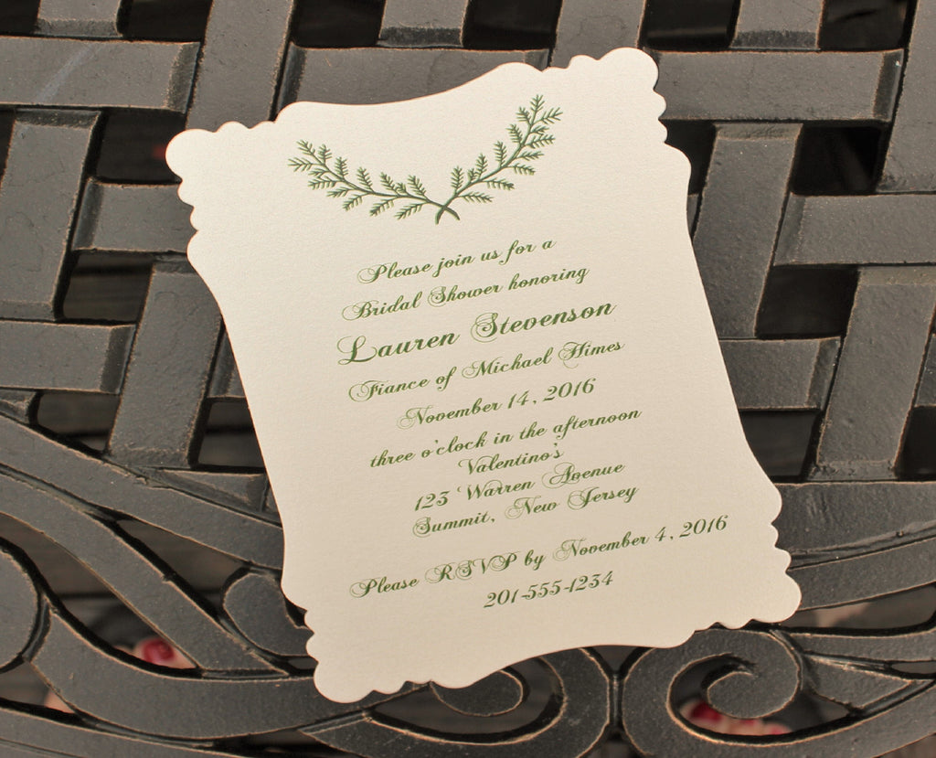 Rustic Branch Bridal Shower Invitation