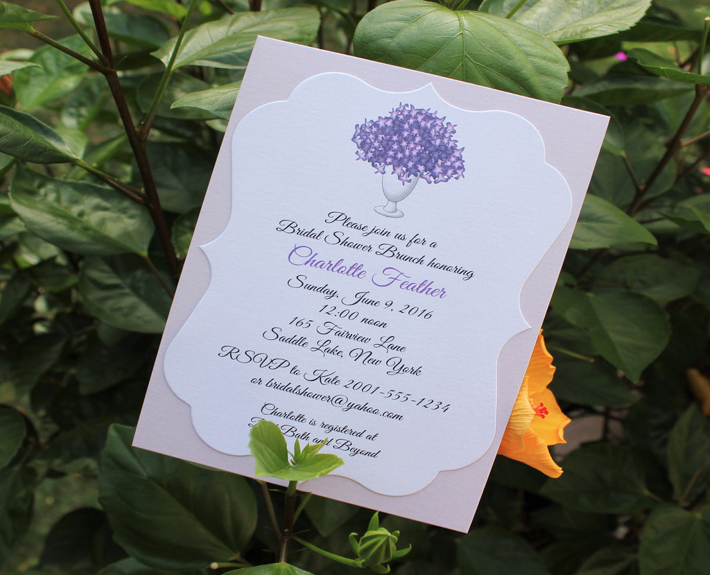 Flower Bouquet Bridal Shower Invitation