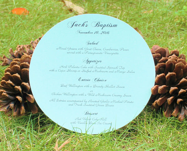 Light  Blue Round Menu