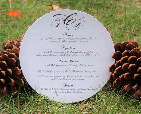 Round Menu With Initials