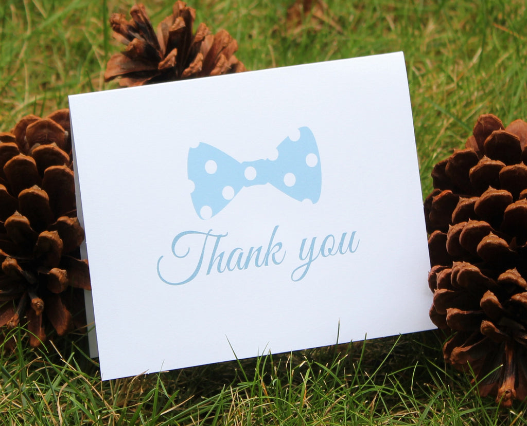 Little Man Bow Tie Thank You Card