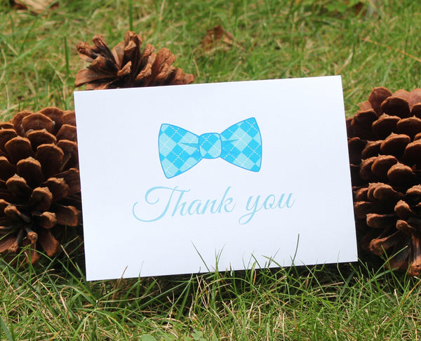 Boys Fun Bow Tie Design Thank You Cards