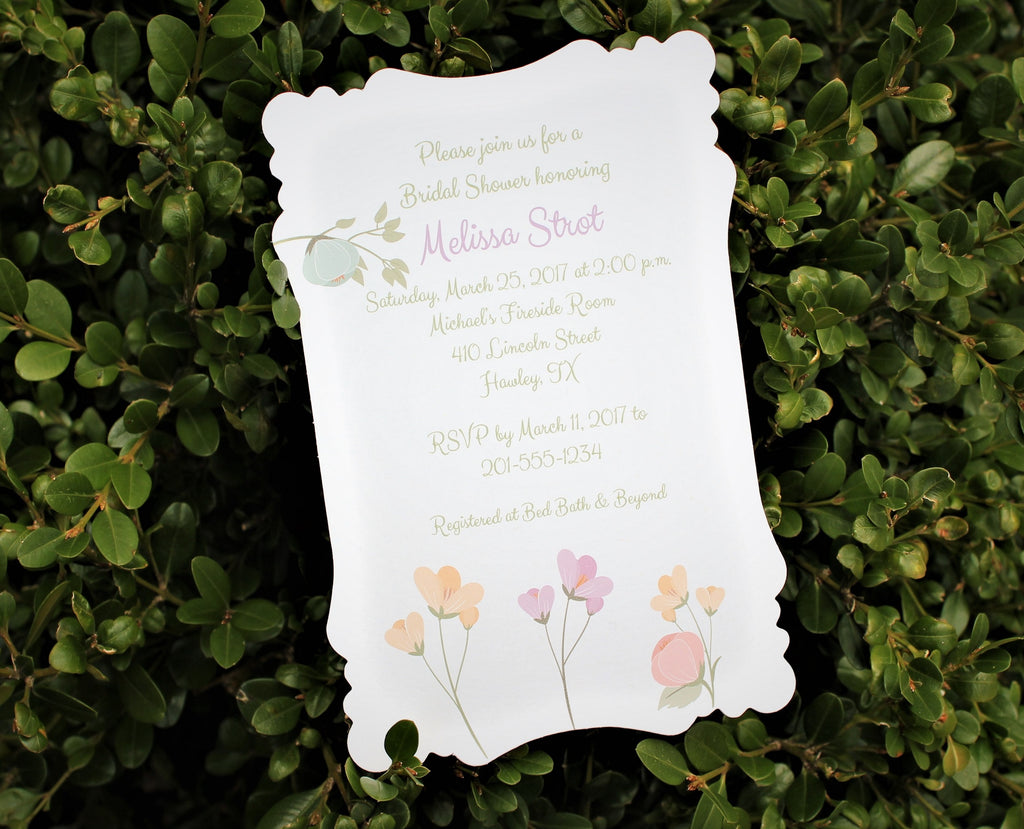 Warm Colors Floral Bridal Shower Invitation