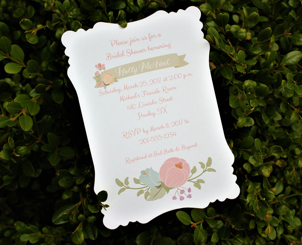 Floral Swag Bridal Shower Invitation
