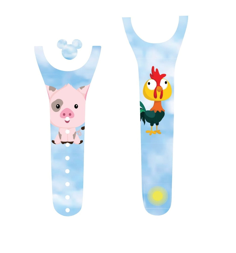 Pig and Rooster Magic Band Decal