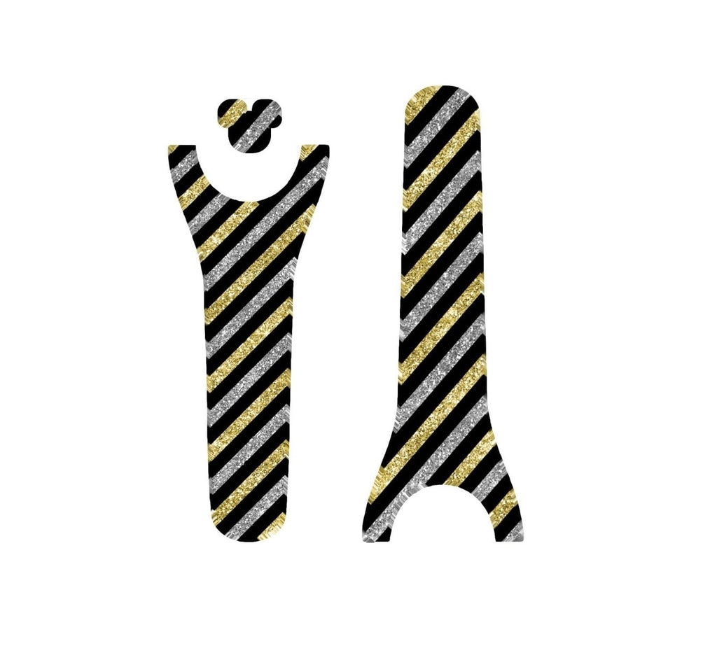 New Years Silver & Gold Stripes Decal Magic Band