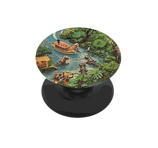 Jungle Ship Vinyl Decal For Phone Grip